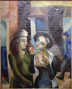 Lena Gurr - Lipstick - 1932 Oil on Canvas
